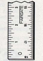 1 Meter x 35mm Metric No-Slip Inking Rule